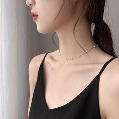 Taimi - 仿珍珠贴脖项链