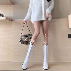 MEIA - 烫钻渔网丝袜