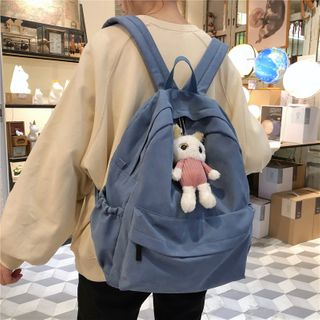 Evanki - Plain Cotton Backpack