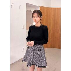 chuu - Pocket-Trim A-Line Skirt