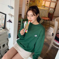 HOTPING - Puppy Embroidery Sweatshirt