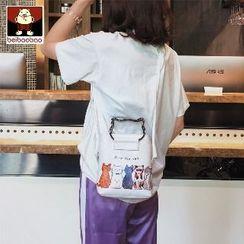北包包 - 仿皮小貓印花手提袋