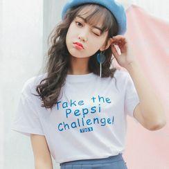 Rosehedge - 字母短袖T裇 / 系带打褶裥迷你A字裙