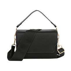 Genova - Faux Leather Flap Crossbody Bag