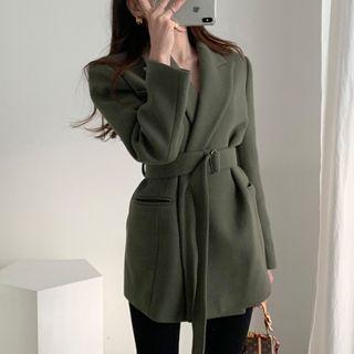 Sienne Belted Wool Coat Yesstyle