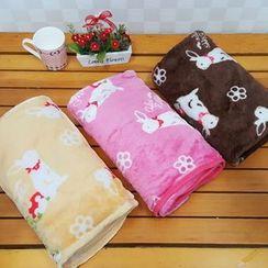 BABOSARANG - Rabbit Print Lap Blanket