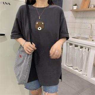 Cloud Nine(クラウドナイン) - Short-Sleeve Patched Oversize T-Shirt