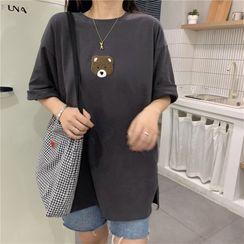 Cloud Nine - Short-Sleeve Patched Oversize T-Shirt