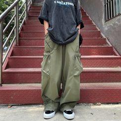 Malnia Home - Couple Matching Wide Leg Cargo Pants