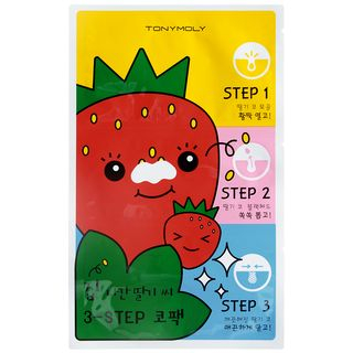 TONYMOLY - Homeless Strawberry Seeds 3 Step Nose Pack