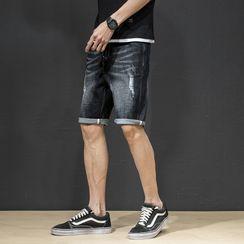 Denimic - Ripped Denim Shorts