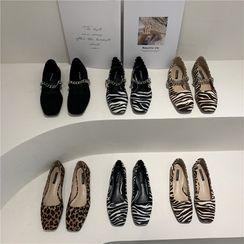 Leather Linda(レザーリンダ) - Square-Toe Flats (Various Designs)