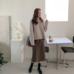 mimi&didi - Slit-Back Plaid Skirt