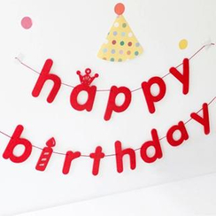 Cute Essentials - 'happy birthday' Party Hanging Decorations