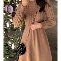 Staan - Long-Sleeve A-Line Knit Dress