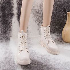 ACCUCIN - Lace-Up Short Boots