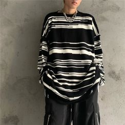 Shineon Studio - Striped Panel Sweater