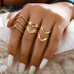 Yongge - Set of 5 : Alloy Ring (assorted designs)