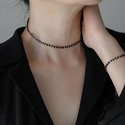 MOMENT OF LOVE - Faux Crystal Choker