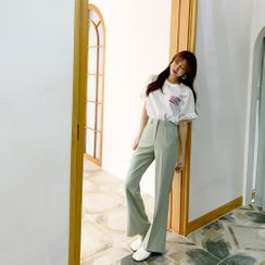 PPGIRL - Flat-Front Dress Pants
