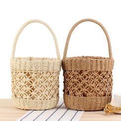 STYLE CICI - Woven Bucket Bag