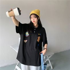Vaolve - 短袖貼布繡馬球衫