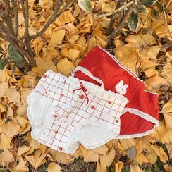 Josei Studio - 五件套裝: 草莓木耳邊內褲