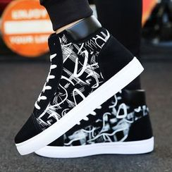Viffara - Lace Up High Top Sneakers