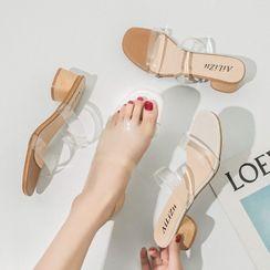Terute - 低跟透明带凉鞋