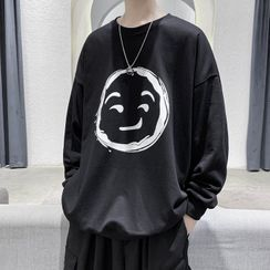 Sartho(サルソ) - Smiley Face Print Pullover