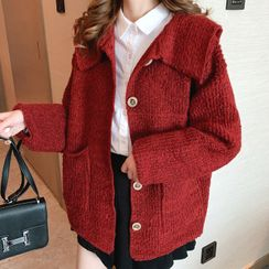 Bolifon - Collared Buttoned Knit Jacket