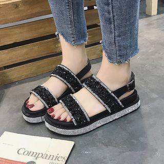 Yoflap - Rhinestone Slide Sandals