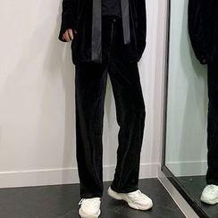 Bjorn - Straight-Leg Velvet Pants