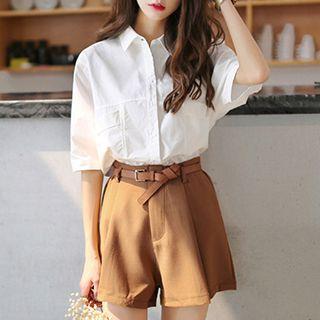 Ashlee - Set: Short-Sleeve Blouse + Shorts