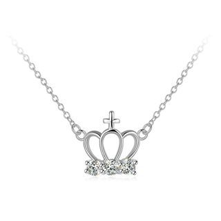 BELEC - Fashion Elegant Crown Necklace with Austrian Element Crystal