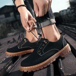 Lion Tips - 仿皮系带鞋