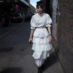 Zepto - 纯色西装外套 / 层层中长裙