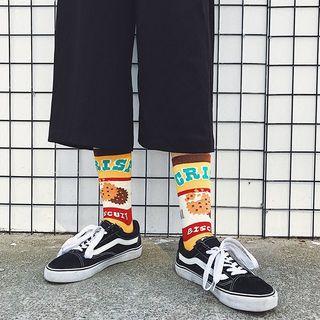 Jansi - 印花袜子