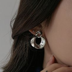 Henya - Hoop Alloy Dangle Earring