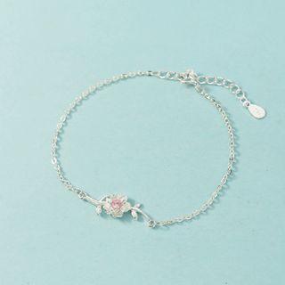 Forainer - Alloy Cherry Blossom Chain Bracelet