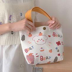 Cutie Bazaar - Printed Canvas Tote Bag