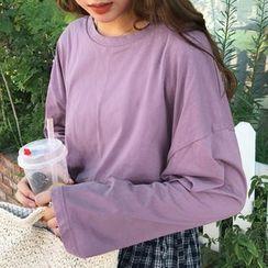 Chogen - Long-Sleeve Plain T-Shirt