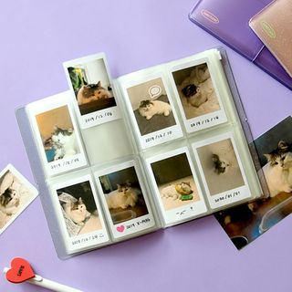 BABOSARANG - Banded Transparent Polaroid Photo Album (S)