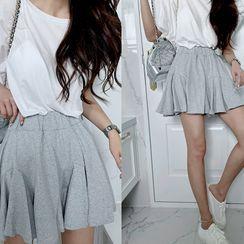 NANING9 - Waistband Godet Miniskirt
