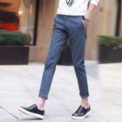 Denimic(デニミック) - Plain Cropped Tapered Pants