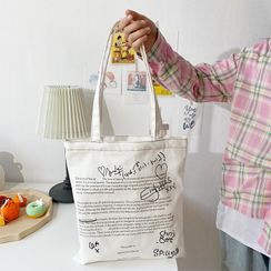 TangTangBags - Lettering Canvas Tote Bag