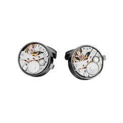 BELEC - High-end Fashion Plated Black Punk Rotatable Movement Cufflinks