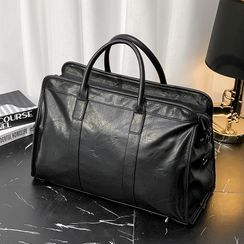 BagBuzz - Plain Faux Leather Carryall Bag