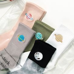 QUICKSOOX - Planet Embroidered Socks