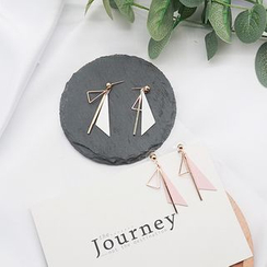 True Glam - Triangle Drop Earrings
